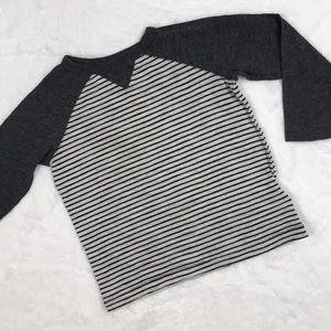 Striped Gray Long Sleeve Tee